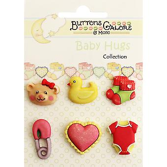 Baby Hugs Buttons-Sweet Baby Girl BH-100