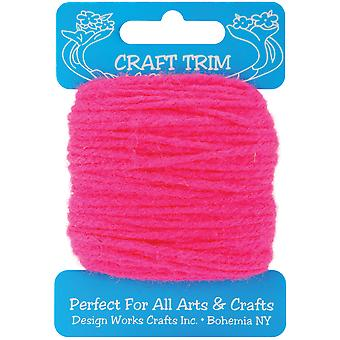 Craft Yarn 20 Yards Dark Pink 100 14