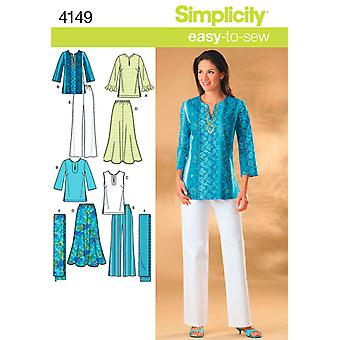 Simplicity Misses And Womens Skirt, Pant 10 12 14 16 18 U04149aa