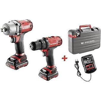 Facom CL3.CP10SJPB Cordless drill, Cordless impact driver 10.8 V 1.5 Ah Li-ion incl. spare battery, incl. case