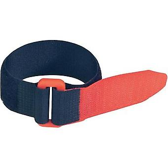 Hook-and-loop tape with strap Hook and loop pad (L x W) 300 mm x 25 mm