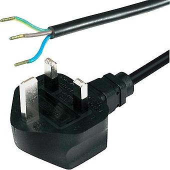 Current Cable [ UK plug, pointed - Cable, open-ended] Black 2 m HAWA 1008244