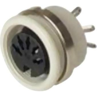 DIN connector Socket, vertical vertical Number of pins: 7 Grey Hirschmann MAB 7100 S 1 pc(s)