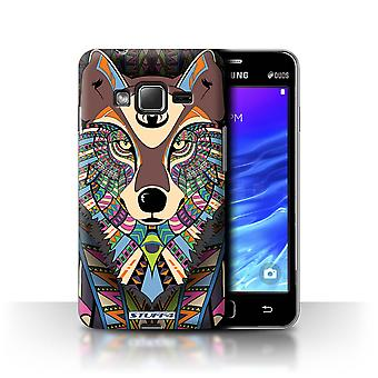 STUFF4 Case/Cover for Samsung Z1/Z130/Wolf-Colour/Aztec Animal