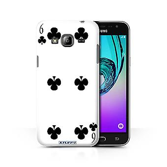 STUFF4 Case/Cover for Samsung Galaxy J3/6 of Clubs/Playing Cards