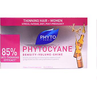 Phyto Phytocyane Densifying Anti-Hair Loss Treatment 12 Ampoules (Hair care , Treatments)
