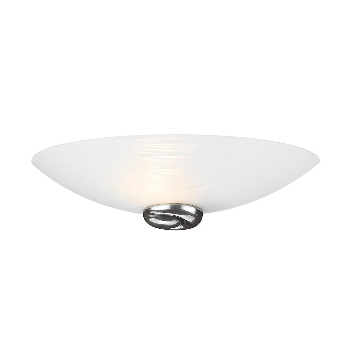 David Hunt SWW0767 Swirl Wall Washer In A Pewter Finish With Italian White Glass