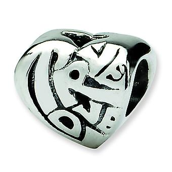 Sterlingsilber antik-Finish Reflexionen SimStars True Love Bead Charm
