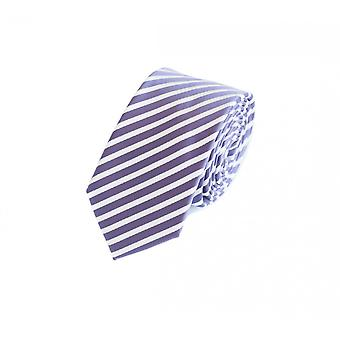 Striped narrow tie v. Fabio Farini in purple white
