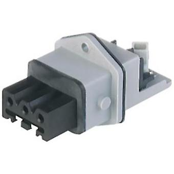 Mains connector ATT.LOV.SERIES_POWERCONNECTORS STAKEI Socket, vertical vertical Total number of pins: 3 + PE 16 A Grey