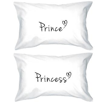 Prince and Princess Pillowcases 300 – Thread - Count Matching Couple Pillowcases