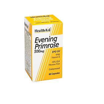 Health Aid Evening Primrose Oil 500mg + Vitamin E ,  60 caps