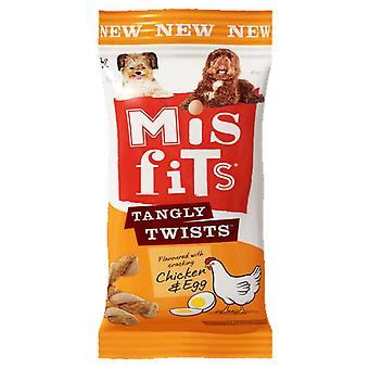 Misfits C&t Tangly Twists Chicken And Egg 140g (Pack of 10)