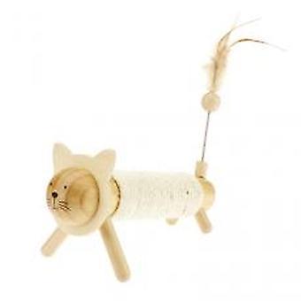 Earthy Pawz Wooden Sisal Rope Kitty Scratch Post