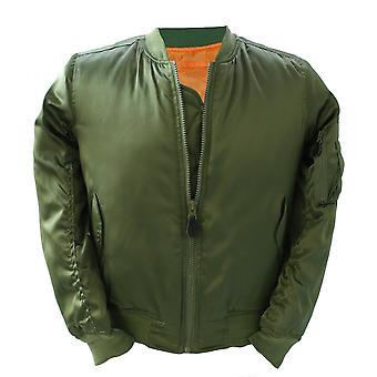 New Us Style Ma1 Bomber Flight Fitted Jacket Satin