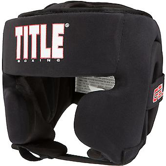 Title Boxing Gel Ultra-Lite Washable Custom Form Fit Headgear - Black