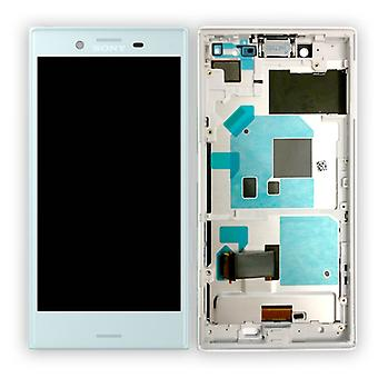 Sony display LCD complete unit with frame for Xperia X compact F5321 Blau spare parts