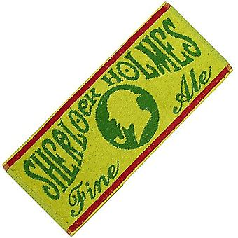 Sherlock Holmes Traditional Ale Cotton Bar Towel (yellow)    500mm x 225mm  (pp)
