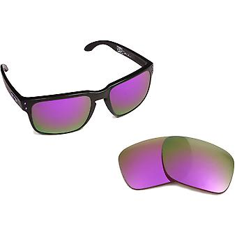 New SEEK Replacement Lenses for Oakley Sunglasses HOLBROOK Silver Purple Mirror