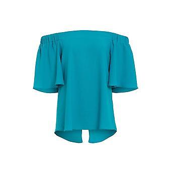 Love2dress parti des femmes élastiquée Bardot bleu Top UK taille 14