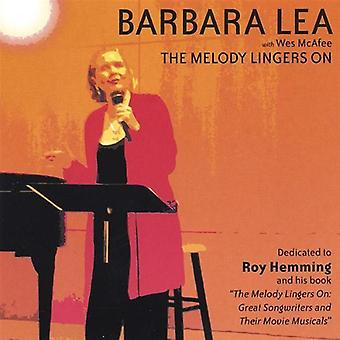 Barbara Lea - Melody Lingers on [CD] USA import