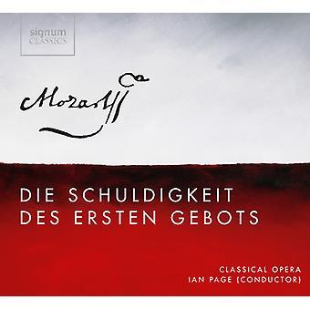 W.a. Mozart - Mozart: Die Schuldigkeit Des Ersten Gebots [CD] USA import