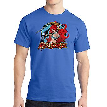 Red Sonja Sonja cirkel mænds kongeblå T-shirt
