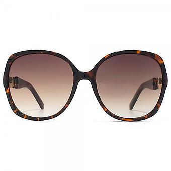 Carvela Glamourous Square Sunglasses In Tortoiseshell