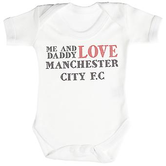 Me & Daddy Text Love Manchester United Baby Bodysuit / Babygrow