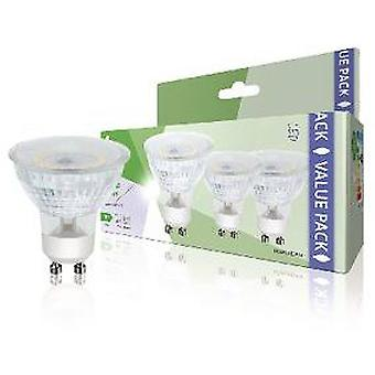 HQ Paquete de 3 bombillas led gu10 mr16, 4,5 w, 345 lm, 3000 k
