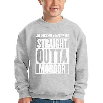 Straight Outta Mordor Lord Of The Rings Kid's Sweatshirt