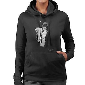 Madonna Singing Microphone Women's Hooded Sweatshirt