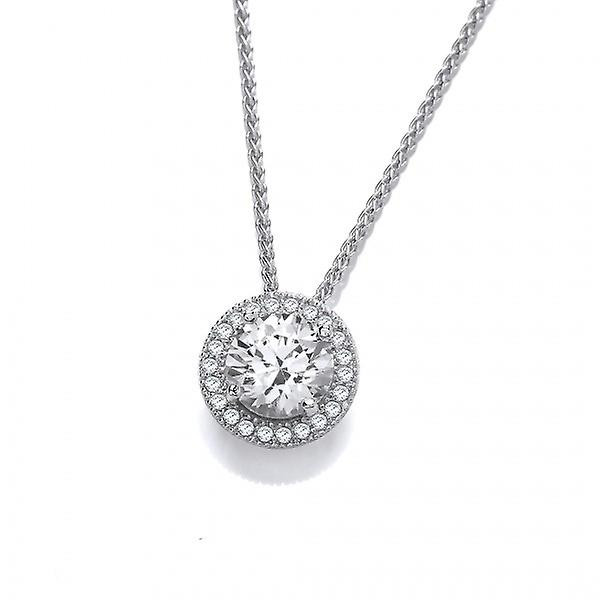 Cavendish French Diamond Bright Silver and CZ Pendant without Chain