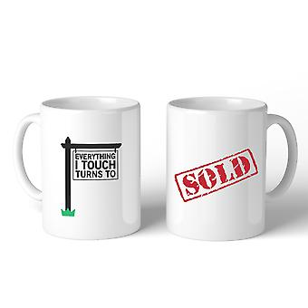 Everything I Touch Turns To Sold Realtor Coffee Mug Funny Gift Idea