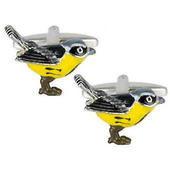 Zennor Bird Cufflinks - Black/Yellow