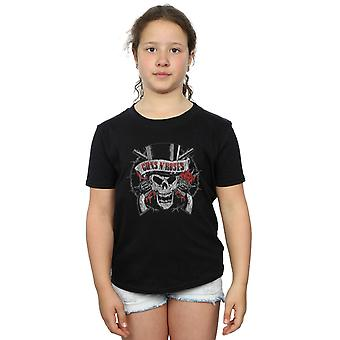 Guns N Roses Girls Distressed Death's Head T-Shirt