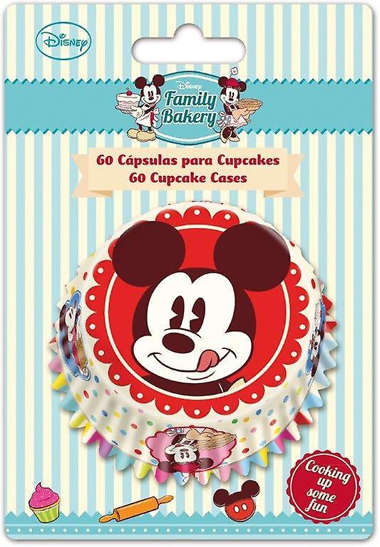 Set di 60 Pirottini per Cupcakes Mickey Mouse Family Disney Cake Design
