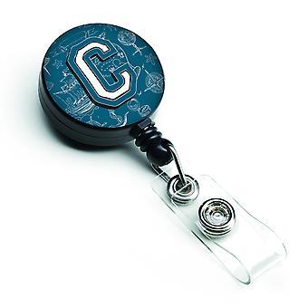 Bogstavet C havet kruseduller indledende alfabet løftbare Badge hjuls