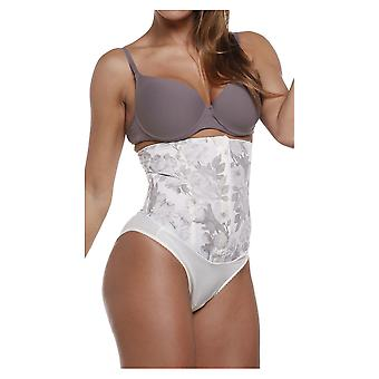 Esbelt ES3100 Women's Ivory Floral Firm/Medium Control Slimming Shaping Girdle