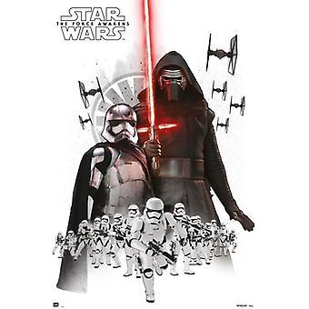 Star Wars The Force weckt Empire weißes Plakat Poster drucken