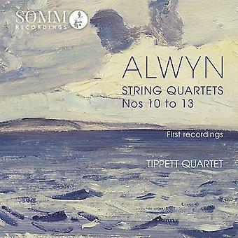 Alwyn / Tippett kvartetten - William Alwyn: Strygekvartetter ændringsforslag 10-13 [CD] USA importerer