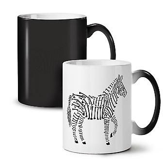 Zebra Skeleton Animal NEW Black Colour Changing Tea Coffee Ceramic Mug 11 oz | Wellcoda