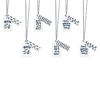 Nautical Gift Tags Pack of 12 Anchor Ahoy Seaside