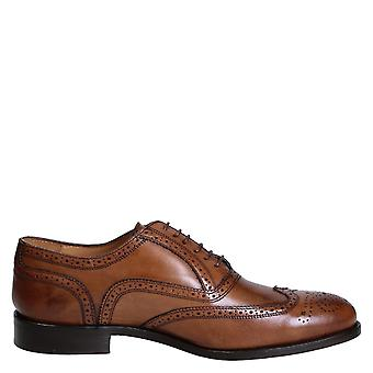 Leonardo shoes men's 06650FORMA40NAIROBICUOIO brown leather lace-up shoes