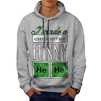 Funny Chemistry Geek Men GreyHoodie | Wellcoda