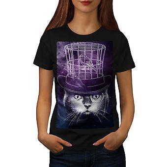 f5d7a05b8091a8 Sonderangebot Hut Geist Vogel Käfig Frauen BlackT-Shirt | Wellcoda