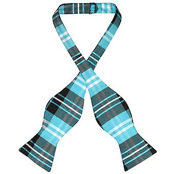Vesuvio Napoli SELF TIE BowTie PLAID Men's Bow Tie