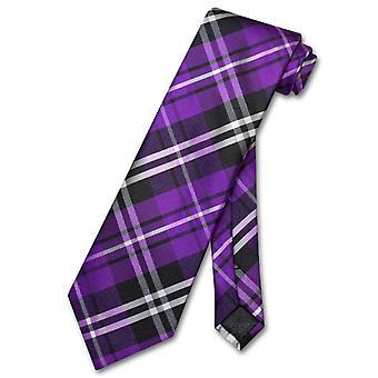 Vesuvio Napoli NeckTie PLAID Design Men's Neck Tie