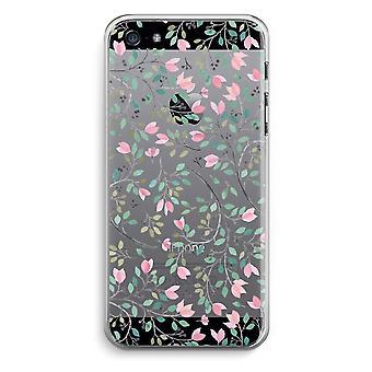 iPhone 5 / 5S / trasparente SE caso (Soft) - fiori delicati