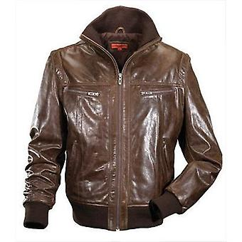 Exclusive Mens Leather Bomber Jacket